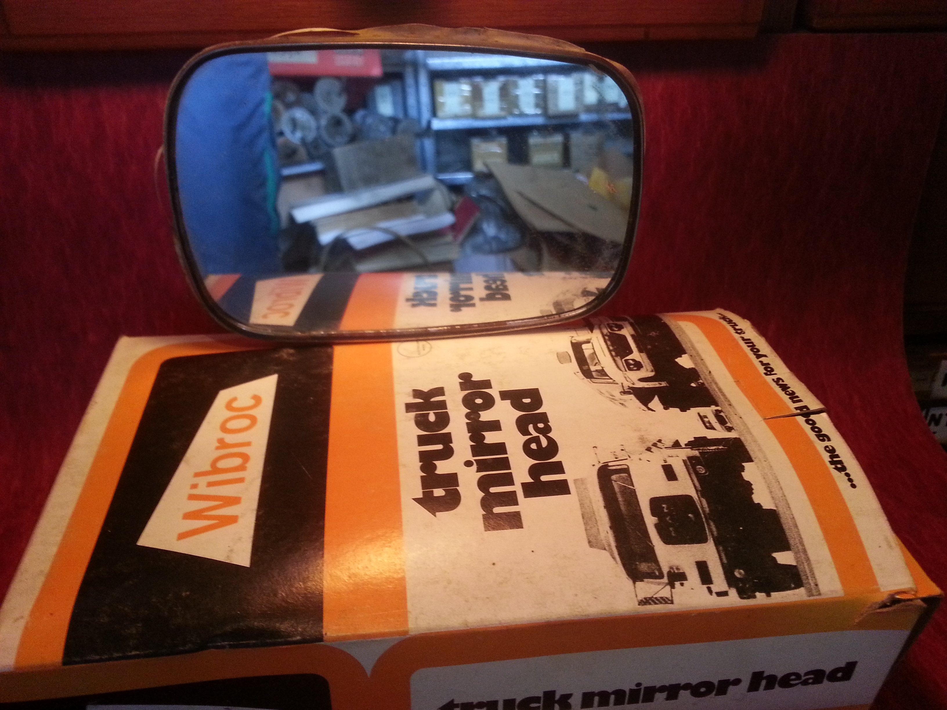 NOS Wibroc aftermarket mirror head